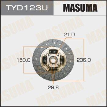 Диск сцепления MASUMA TYD123U