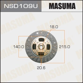 Диск сцепления MASUMA NSD109U