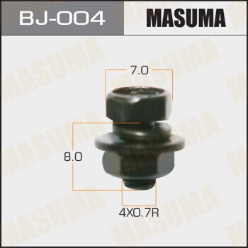 """Болт с гайкой """"""""MASUMA""""""""  М 4x8x0.7,   уп.15шт"""