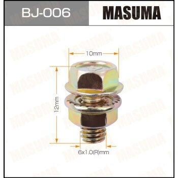 """Болт с гайкой """"""""MASUMA""""""""  М 6x12x1.0,   уп.6шт"""