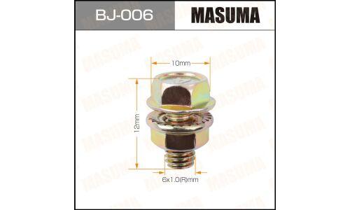 """Болт с гайкой """"MASUMA""""  М 6x12x1.0,   уп.6шт"""