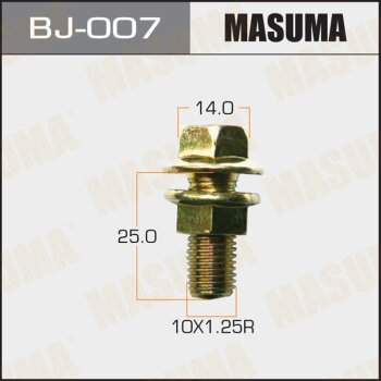 Болт с гайкой 'MASUMA'  М10x25x1.25,  уп.2шт