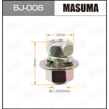Болт с гайкой 'MASUMA'  М 8x15x1.25,   уп.4шт