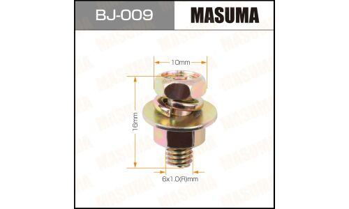 """Болт с гайкой """"MASUMA""""  М 6x16x1.0,   уп.6шт"""