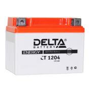 Аккумулятор для мото Delta CT 1204 AGM, 4Ач, CCA 50A, необслуживаемый