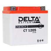 Аккумулятор для мото Delta CT 1205 AGM, 5Ач, CCA 80A, необслуживаемый