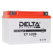 Аккумулятор для мото Delta CT 1209 AGM, 9Ач, CCA 135A, необслуживаемый