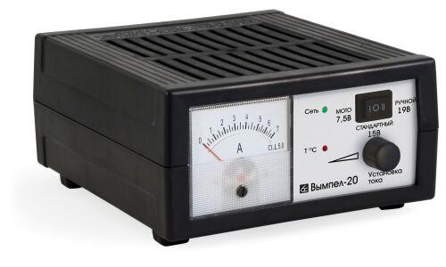 Заряд.устройство Вымпел-20  (автомат,0-6А, 6/12/18В, стрелочный амперметр)