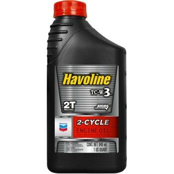Масло для лодочных моторов  Chevron 2-Cycle Oil  TC-W3 минеральное, 2-х тактное 1л