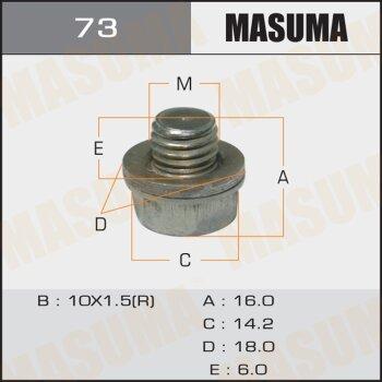 """Болт маслосливной A/T """"""""Masuma""""""""  Toyota, Mitsubishi, Suzuki"""