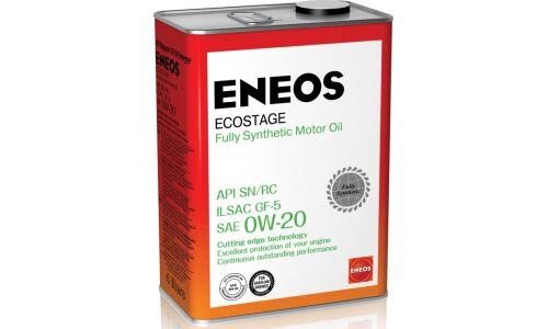 Масло моторное  Eneos  Gasoline Ecostage   0w20  SN синтетическое, для бензинового двигателя 4л