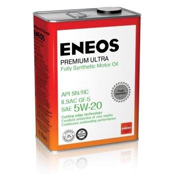 Масло моторное  Eneos  Gasoline Premium Ultra   5w20  SN синтетическое, для бензинового двигателя 4л