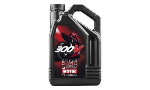 Масло для мотоциклов  MOTUL 300V Factory Line Roard Racing 5w40  синтетическое, 4-х тактное 4л