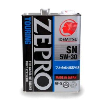 Масло моторное  IDEMITSU Zepro Touring   5w30  SN/GF-5 синтетическое, для бензинового двигателя 4л