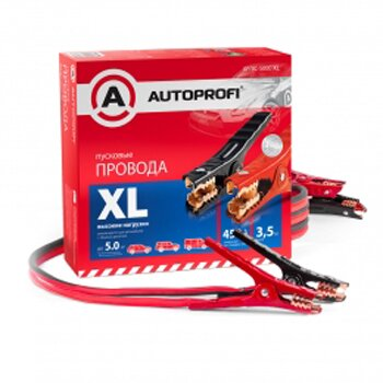 """Провода пусковые """"""""AUTOPROFI"""""""", высокие нагрузки, 100% ССА, 21,15мм2, 450A (SAE), 3,5м, 1/6"""