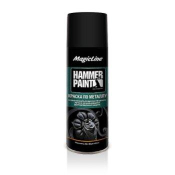 Краска-аэрозоль MagicLine по металлу, черная 265г
