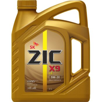 Масло моторное  ZIC X9 LS  5w30  SN/CF синтетическое, универсальное 4л  (1/4)