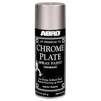 "Краска-аэрозоль ""ABRO""  Хром Премиум,  аэроз. 227гр       (1/12 )"