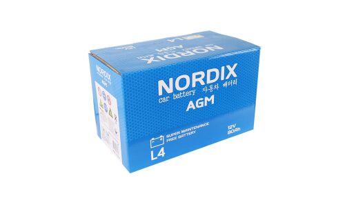 Аккумулятор NORDIX AGM 80  А/ч  AGM L4