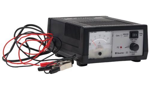 Заряд.устройство Вымпел-32 (автомат,0-20А, 3-х режимн..(AGM), стрелочный амперметр)