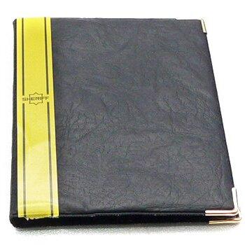 Бумажник водителя в жёсткой обложке с метал. уголками,6 карманов,станд.р-р (кож.зам.)
