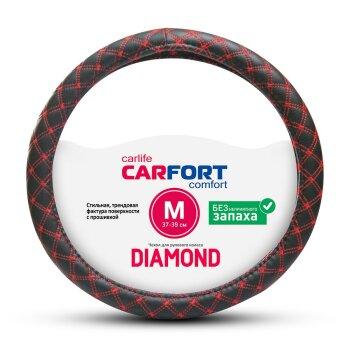 Оплетка CARFORT Diamond c красной прошивкой М CS2152