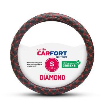 Оплетка CARFORT Diamond c красной прошивкой S CS2151
