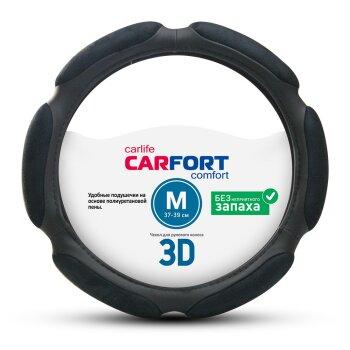 Оплетка CARFORT 3D черная М CS3152
