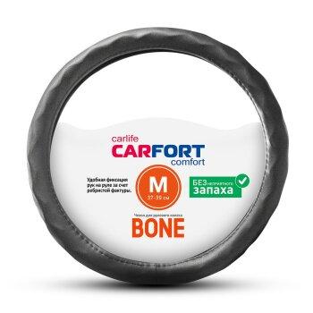 Оплетка CARFORT Bone рельефные ячейки черная М CS4152