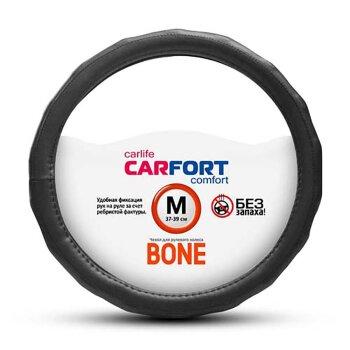 Оплетка CARFORT Bone рельефные ребра черная М CS4162