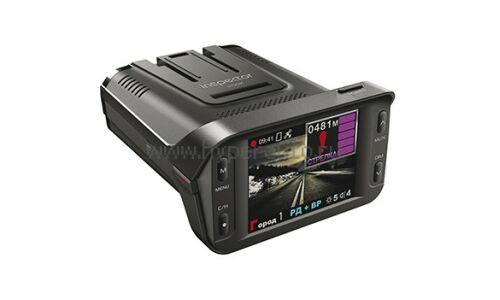 """Видеорегистратор с радар-детектором автомобильный Inspector Hook на лобовое стекло, 2.1Мп, 1920х1080, обзор 120°, экран 2.4"""", GPS"""
