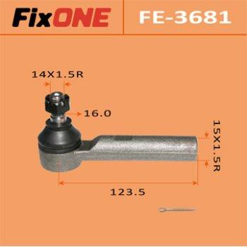 """Наконечник рулевой тяги """"FIXONE""""  KCH14#, LXH4#, RCH4#"""