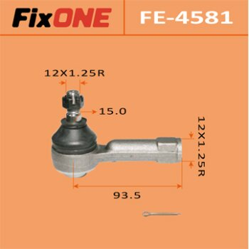 "Наконечник рулевой тяги ""FIXONE""  B14, B15, Y10, Y11 2WD"