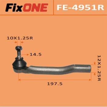 """Наконечник рулевой тяги """"FIXONE""""  CUBE/Z11 RH"""