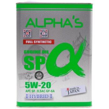 Масло моторное ALPHA'S  5w20 SN/GF-5, синтетическое, для бензинового двигателя 4л