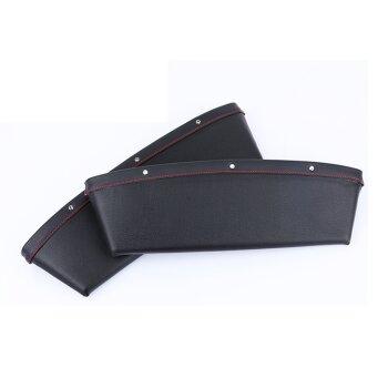 Кармашек кожзам между сиденьем и подлокотником (черный) набор 2шт