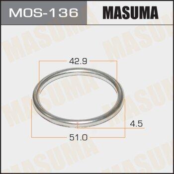 Кольцо глушителя MASUMA металлическое 43 x 51.5 x 4