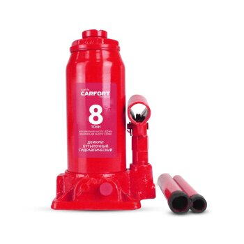 Домкрат гидравлический бутылочный Carfort, 8000кг, подъем 236-475мм, сумка