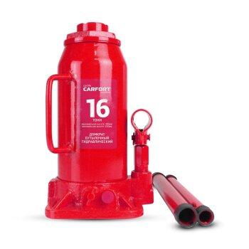 Домкрат гидравлический бутылочный Carfort, 16000кг, подъем 250-490мм, сумка