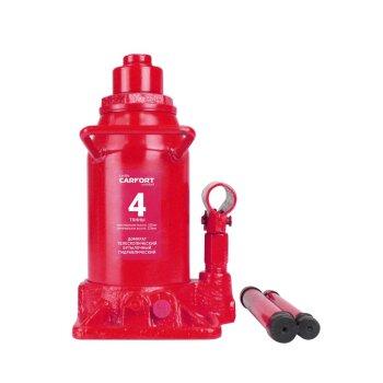 Домкрат гидравлический бутылочный Carfort, 4000кг, подъем 229-535мм, двойной шток, сумка