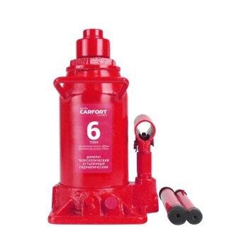 Домкрат гидравлический бутылочный Carfort, 6000кг, подъем 230-480мм, двойной шток, сумка