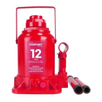 Домкрат гидравлический бутылочный Carfort, 12000кг, подъем 230-500мм, двойной шток, сумка