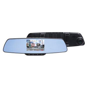 """Видеорегистратор автомобильный Inspector Typhoon зеркало заднего вида, 4Мп, 2560х1080, обзор 150°, экран 4.3"""", GPS"""