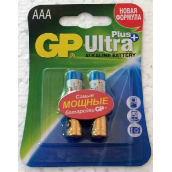 Элемент питания GP LR03 24AUP Ultra Plus BL-2/20/1 (2шт)