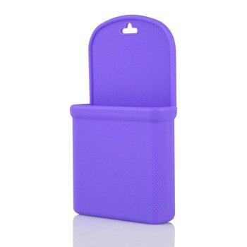 Силиконовый мешочек для мелочи/телефона, фиолетовый