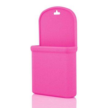Силиконовый мешочек для мелочи/телефона, розовый