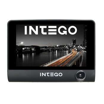 """Видеорегистратор автомобильный Intego VX-315 DUAL на лобовое стекло, 1Мп, 1280x720, обзор 140°, экран 4.0"""", 3 камеры"""