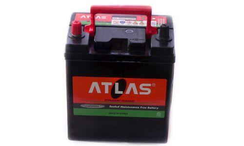 """Аккумулятор  """"ATLAS""""   45 а/ч  R 230*125*200 малая клемма  AMF  Обслуж.  /СЕРЫЙ/"""