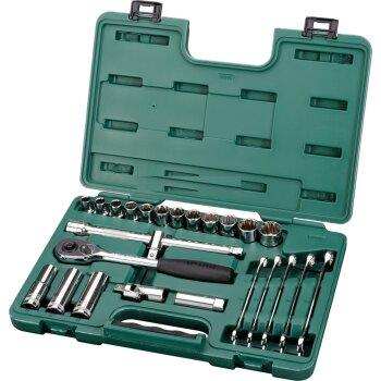 """Инструменты, набор """"""""SATA"""""""" 1/2"""""""". 25пр., головки, ключи"""