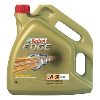 Масло моторное  Castrol EDGE Titanium FST 0w30 А5/В5  SL синтетическое, для бензинового двигателя 4л